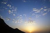 Sunrise in the mountain area
