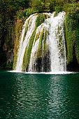 Waterfall in National Park Plitvice, Croatia.