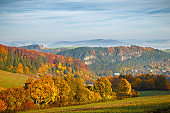 Landscape in autumn colors, Slovakia.