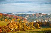 Landscape in autumn colors, Slovakia.