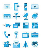 communication media flat icon