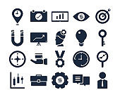 business solid icon set