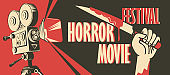 banner for horror movie festival, scary cinema