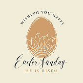 greeting card with Easter egg