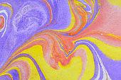 Ebru, Turkish marbling art background. Abstract background. Ink marbling texture.  On highly textured paper.