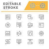 Editable stroke
