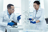 Professional researhcers studying bioengineering