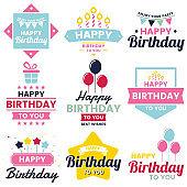 Happy Birthday Vector for banner