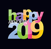 Happy new 2019 year banner