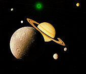 Planets of the solar system isolated on black background.Some elements of this image are furnished by NASA