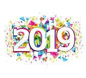 Happy new 2019 year - banner