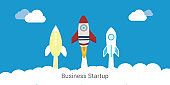 Business startup banner Vector Illustration - Illustration