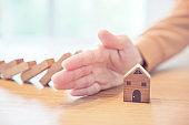 Home insurance concept, Risk