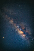 Milky Way stars as seen from a southern hemisphere. Mars is in lower left part of image. My astronomy work.