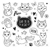 Cats icons collection.