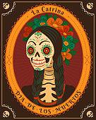 Dia de los Muertos card.