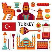 Turkey icons collection.
