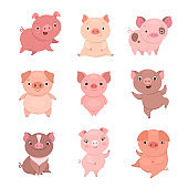 Cute piggies collection.
