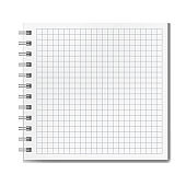 Vector realistic ruled square notebook mockup
