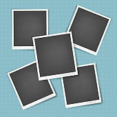 Vector photo frames with white edges collection