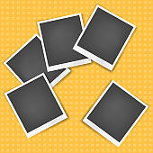 Vector realistic photo frame with white edges