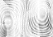 Halftone background with abstract silhouettes