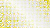 Abstract light luxury golden dotted background