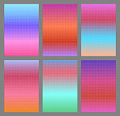 Abstract dotted pink gradients for ui design