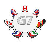 G7 Countries Summit Meeting Concept Isolated