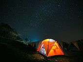 Night camping at Nan , Thailand