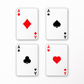 playing cards ace set vector casino card