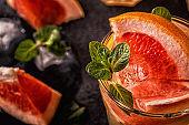Grapefruit homemade cocktail/detox fruit infused water