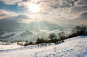 magical winter countryside