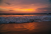 Beautiful colorful sunset over the Indian Ocean