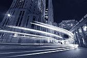Night Traffic in downtown