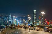 night scene of Hong Kong city