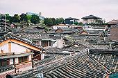 Roof details Architecture Traditional Korean Buchon hannok village