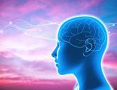 Human intelligence concept illustration.