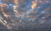 beautiful cloudscape at sunset