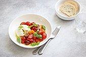 Mozzarella and cherry tomatoes salad