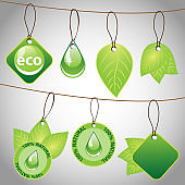 Natural, Eco Friendly Label or Badge Templates Clip-Art