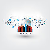 Smart City, Internet Of Things Design Concept With Icons