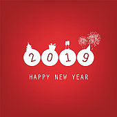 New Year Card Background - 2019