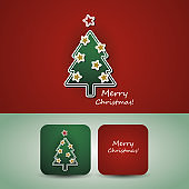 Christmas Card, Price Tag, Banner Template