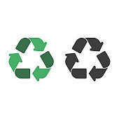Vector recycle icons.