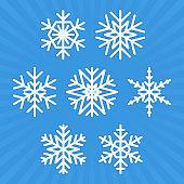 Snowflake vector set.