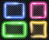 Colorful neon frames