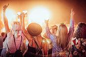 Friends at music festiva