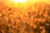 Golden bokeh. Texture with gold abstraction