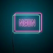 Neon sign. Vector illustration.